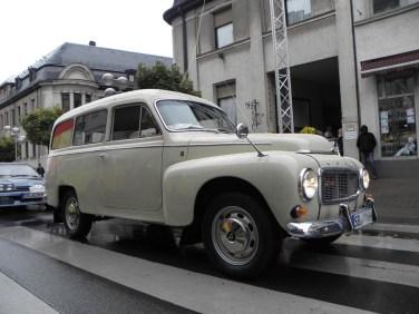 Prominence out of competition: Ingmar Persson demonstrerar sin Volvo P210 duett av 1967.