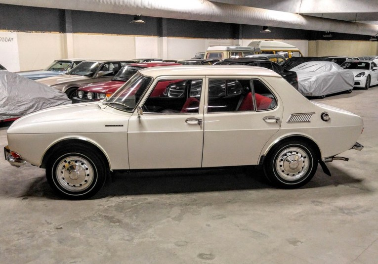 Very rare, an early Saab 99. Image: Bilweb Auctions
