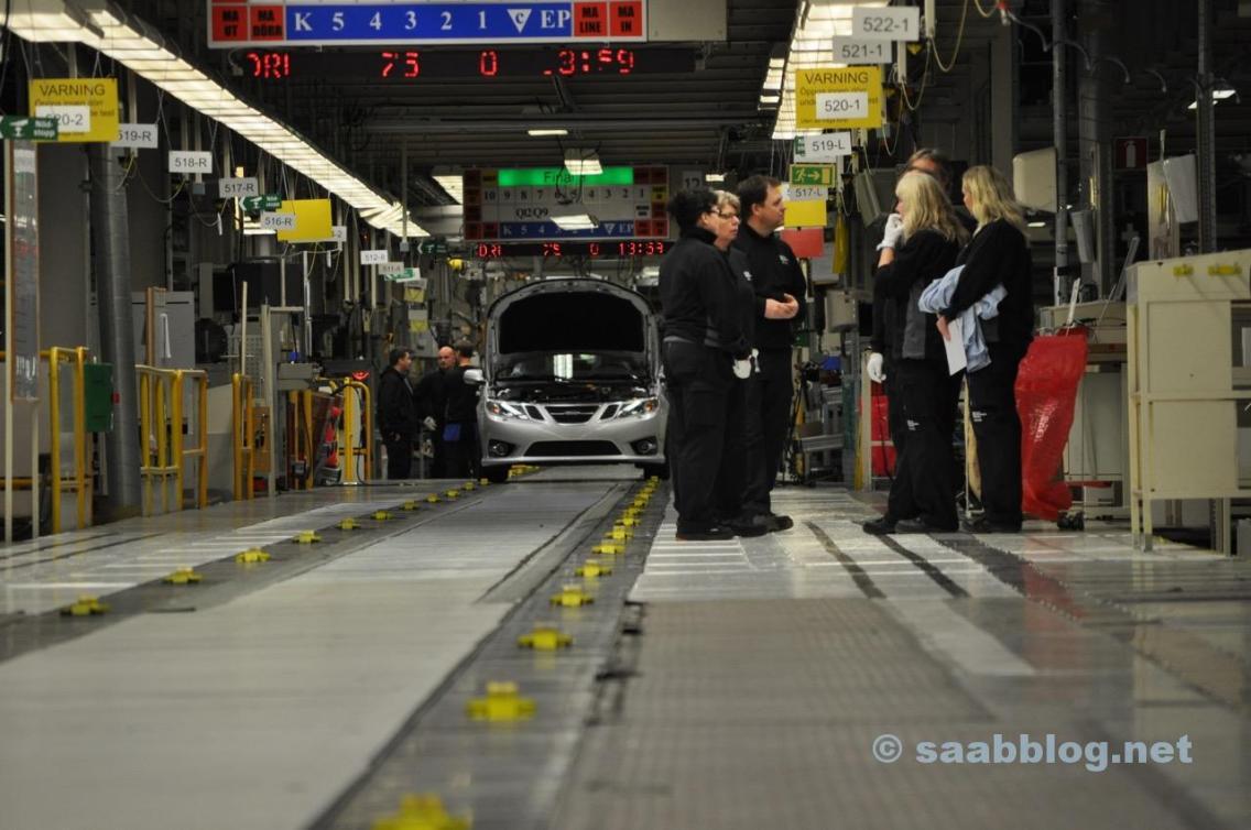 Linha de produção Saab