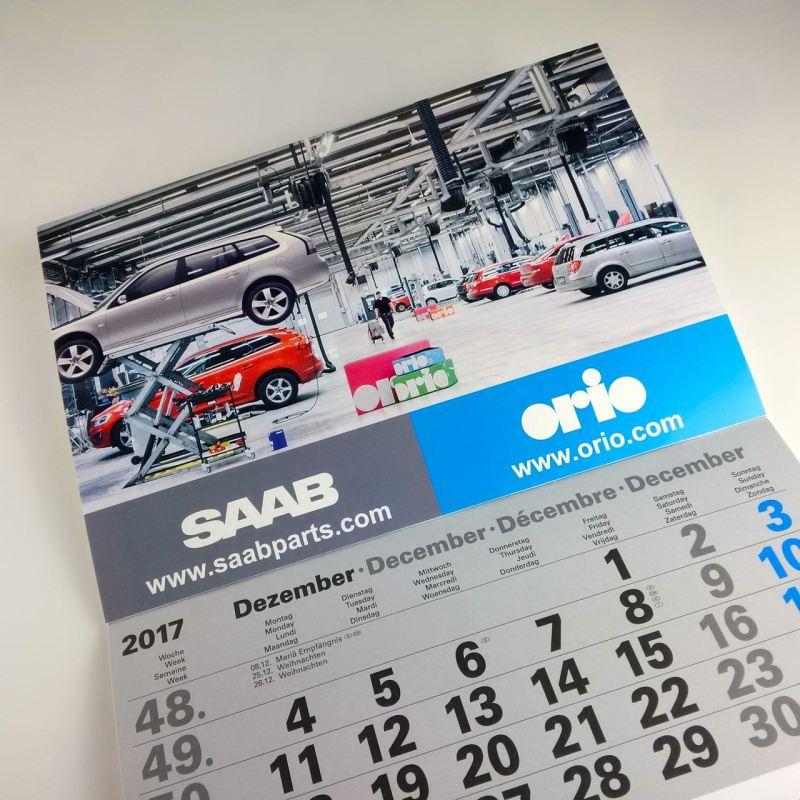 Calendrier des pièces Saab 2018
