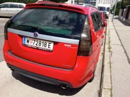 Saab mit Saab-Blog Aufkleber