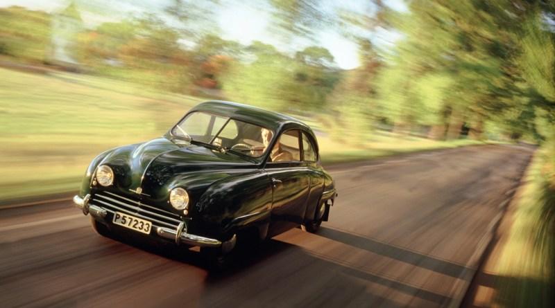 Saab 92 по дороге