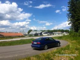 Saab Viggen sulla strada per Trollhättan