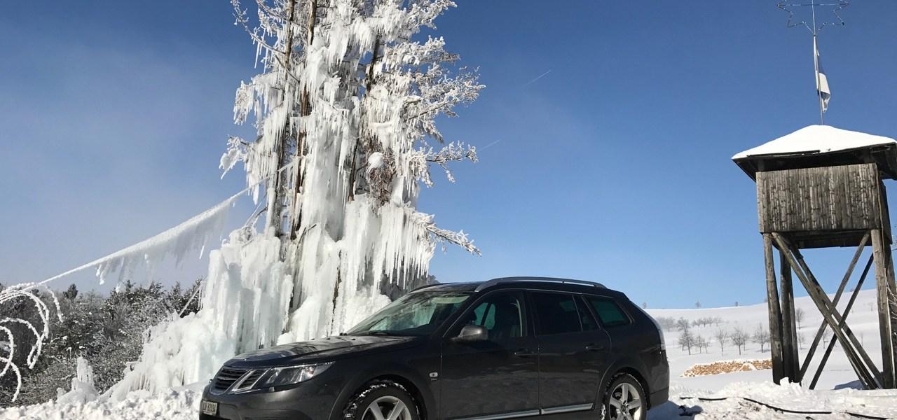 Saab och snö. Fler bilder!