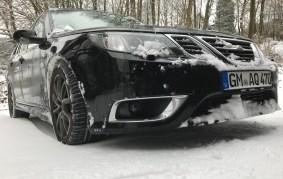 Saab 9-3 i snön