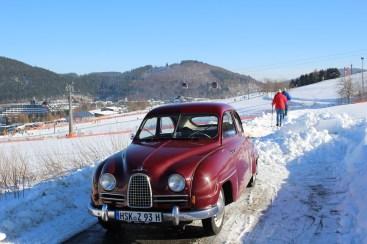 Saab tweetakt in de winter. De klassieker van Christoph