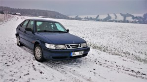Yountimer in the snow. Saab 9-3 from Eric