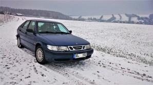 Yountimer nella neve. Saab 9-3 di Eric
