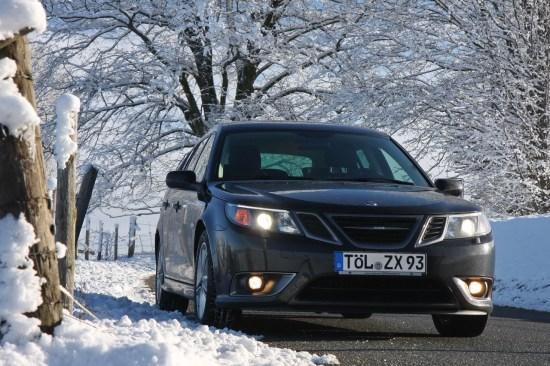 Un altro TX. Saab a trazione integrale in inverno. Immagine di Wolfgang