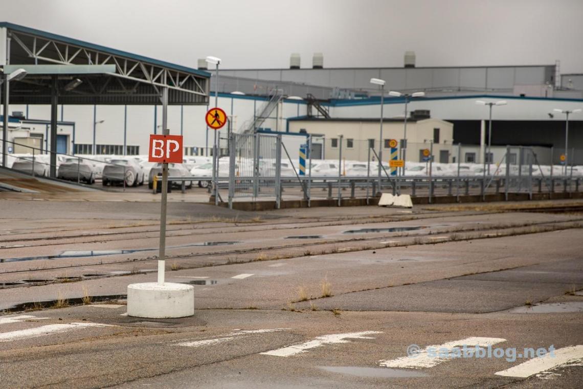 Trollhättan, gammal Saabfabrik April 2018.