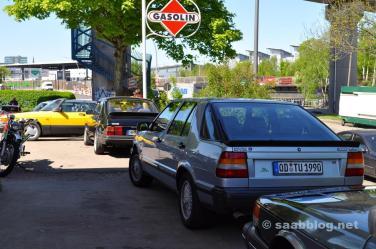 Mooie 9000 CC Turbo met sticker van Saab Zielke