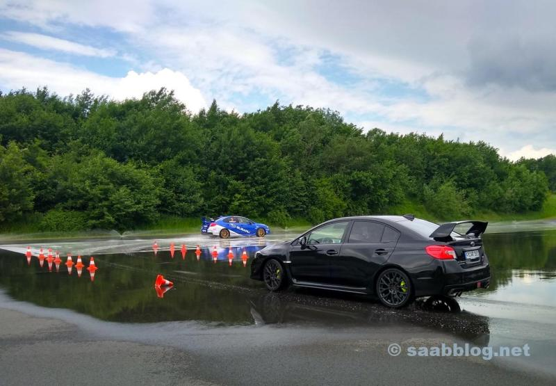Drift training with the WRX STI at Bilster Mountain