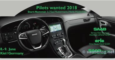 Piloten wilden 2018, Saab Rallye Plate