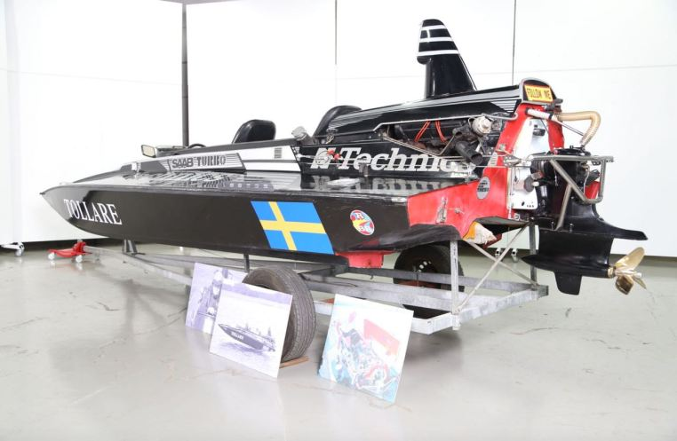 Per Gillbrands racerbåt. Foto: Bilweb
