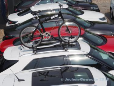 9-4x mit Saab Fahrrad