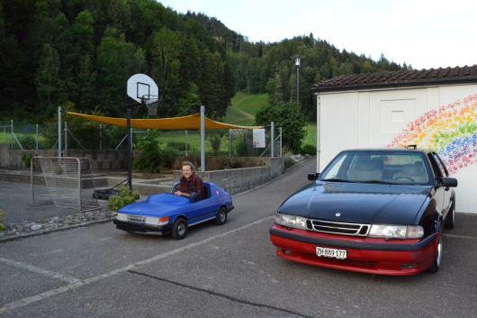 Ob groß oder klein, ein Saab ist ein Saab...