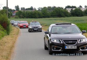Saab sur le chemin