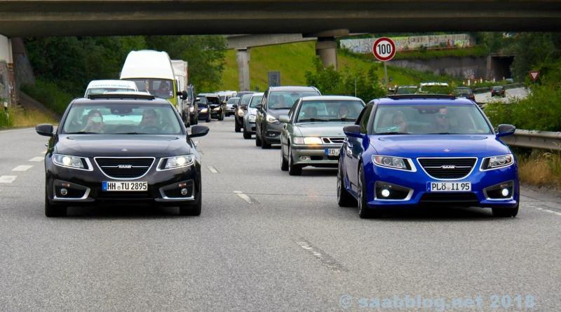 Tout Saab? 9-5 NG sur l'autoroute de Kiel