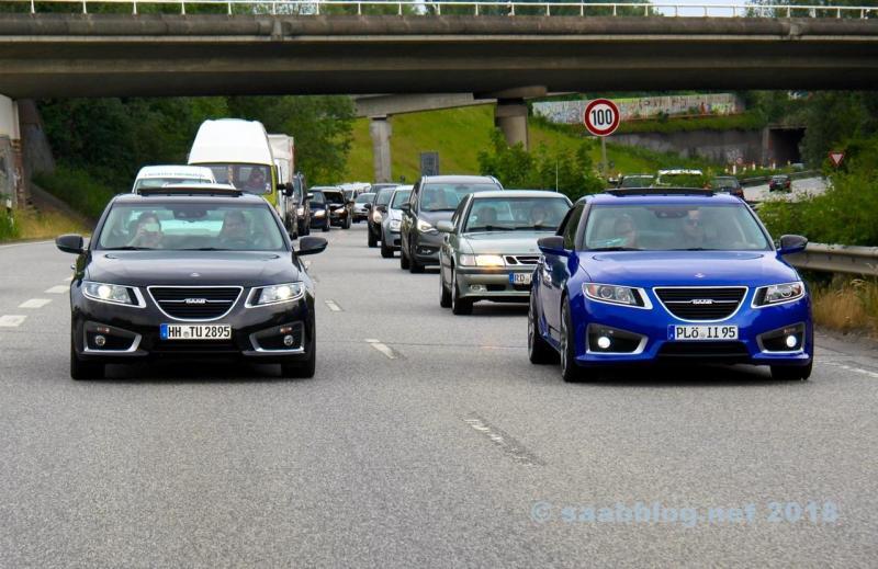 Alles Saab? 9-5 NG op de stadsweg in Kiel
