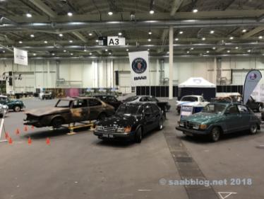 Der Saab-Volvo Stand umfasst 200 qm