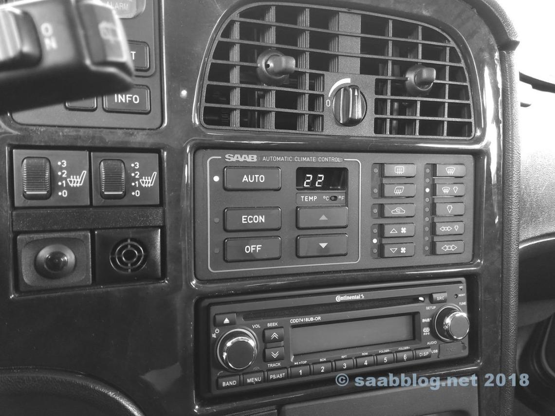 Climatización en el Saab 9000.
