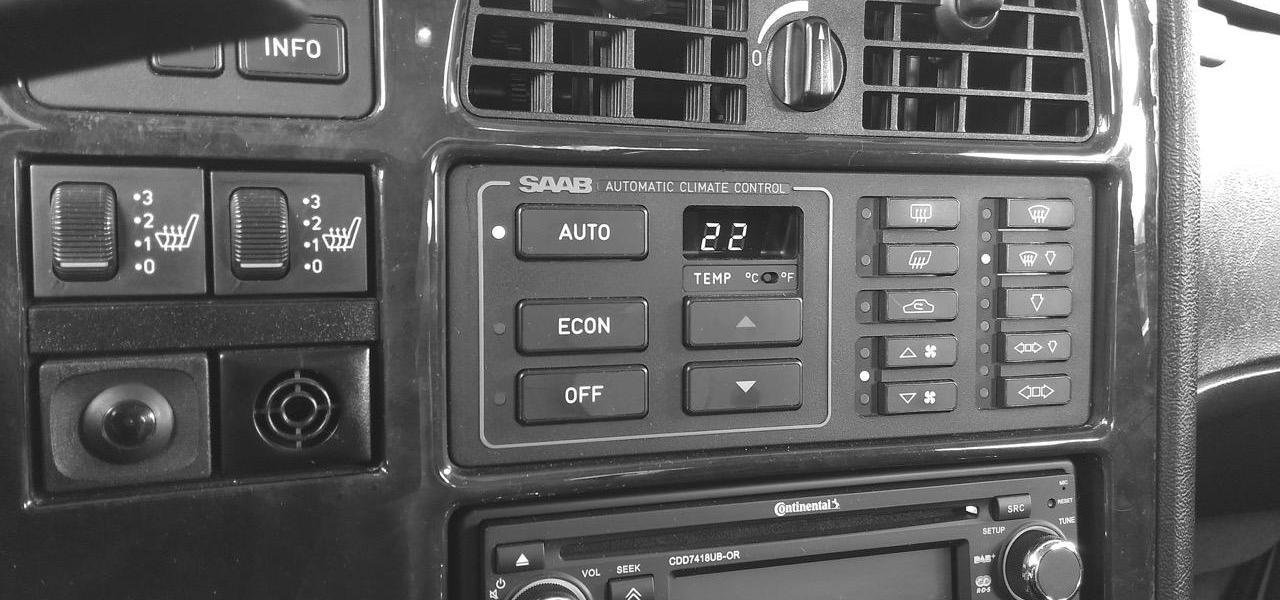 Saab 9000, heat and automatic climate control