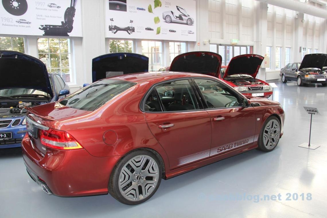 Saab Museum oktober 2018. Den sista Saab prototypen