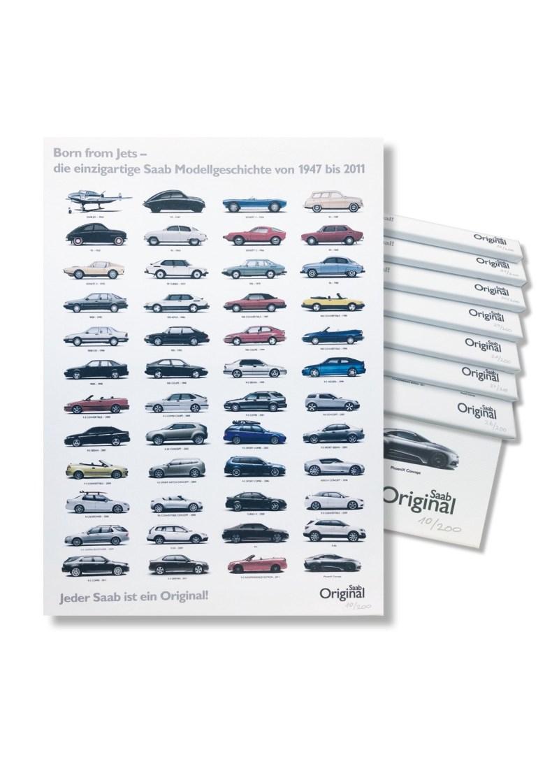 Uma mercadoria exclusiva da Saab. História Saab como uma imagem de tela