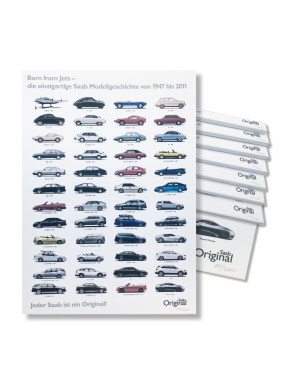 En exklusiv Saab-vara. Saab historia som en kanvasbild. Bild: Orio