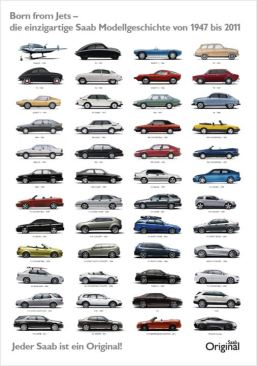 Saab poster. Afbeelding: Orio