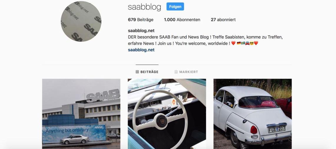 Saab Instagram Action