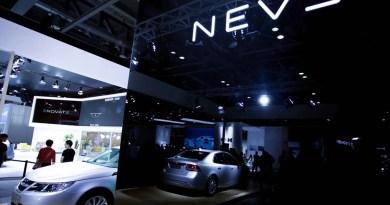 NEVS 9-3 EV em Hangzhou. Isto não é Saab - ou pelo menos