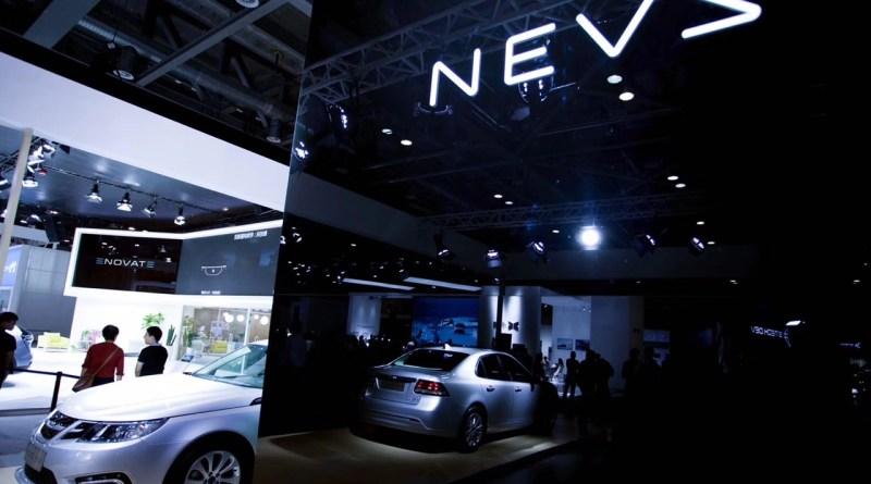 NEVS 9-3 EV i Hangzhou. Detta är inte Saab - eller åtminstone