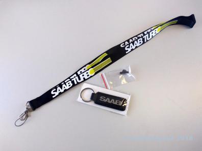 Saab Lanyard, Pin und Schlüsselanhänger