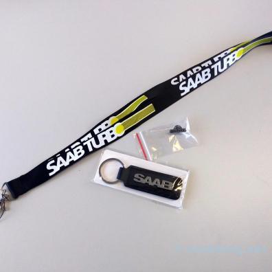 Longe Saab, épingle et porte-clés