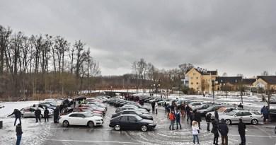 55-fordon på Saab Support Convoy 2019