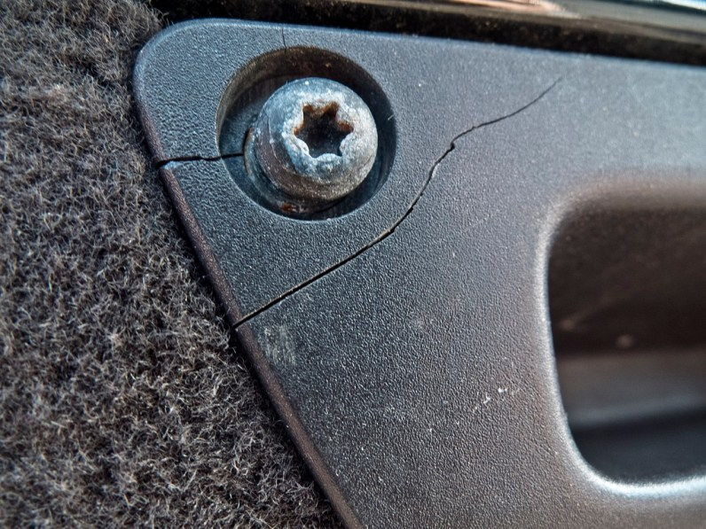 Also broken: The recessed grip for the tailgate.