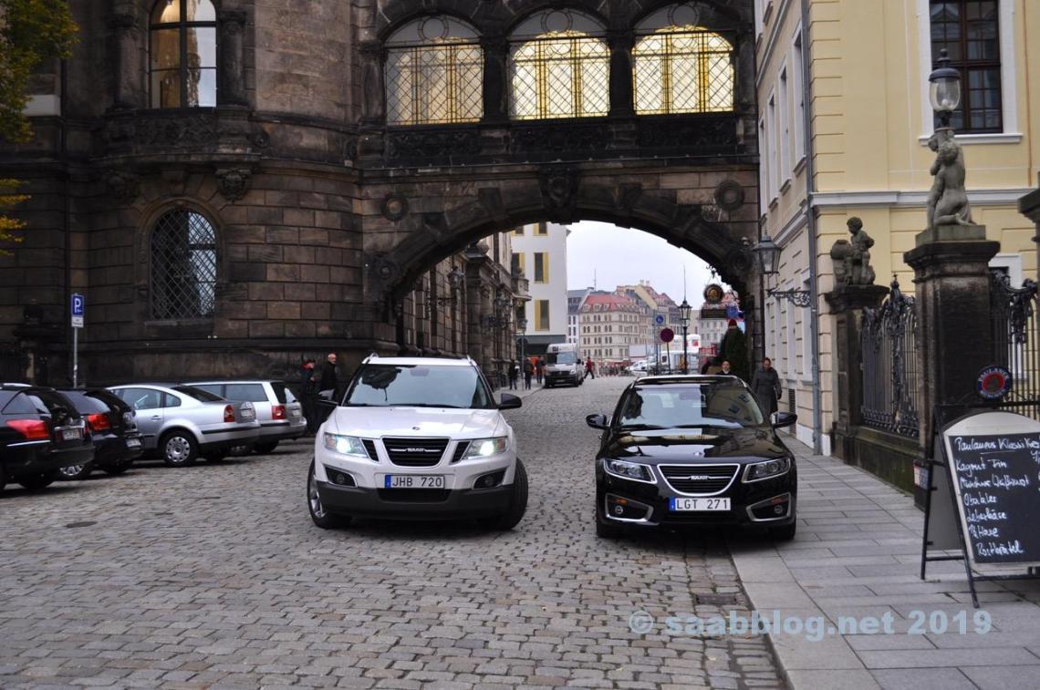 Saab 9-4x e 9-5 NG SC em Dresden