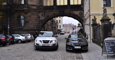 Saab 9-4x och 9-5 NG SC i Dresden