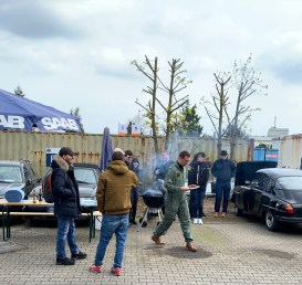 Opening of the barbecue season with winter barbecue in Frankfurt Fechenheim
