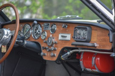 Sport cockpit with Halda Speedmaster, Heuer watch and reading light