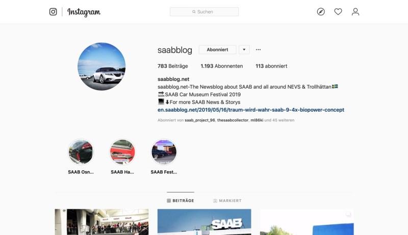 Den Blog live auf Instagram verfolgen!