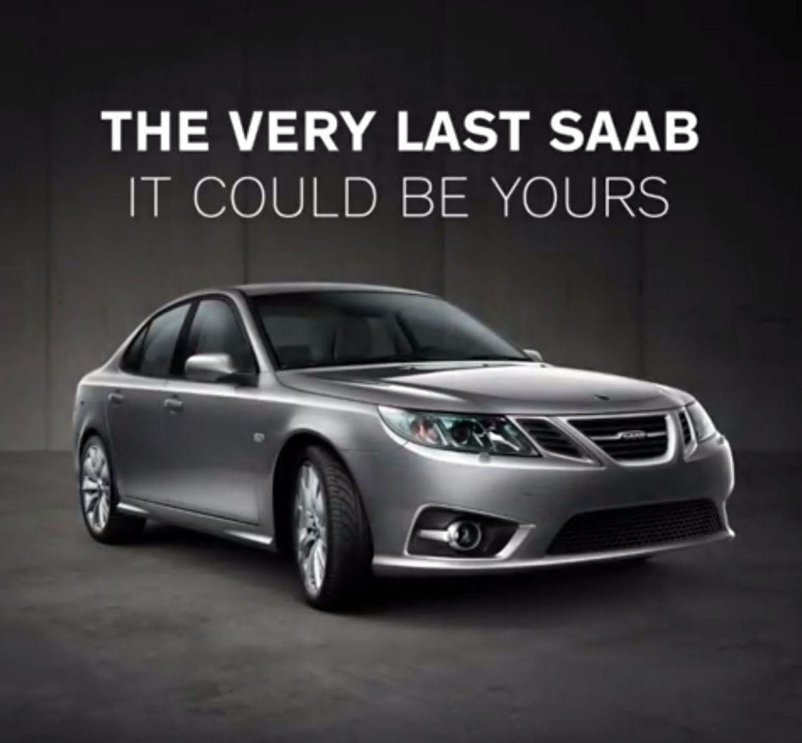 Der allerletzte Saab. NEVS via Instagram