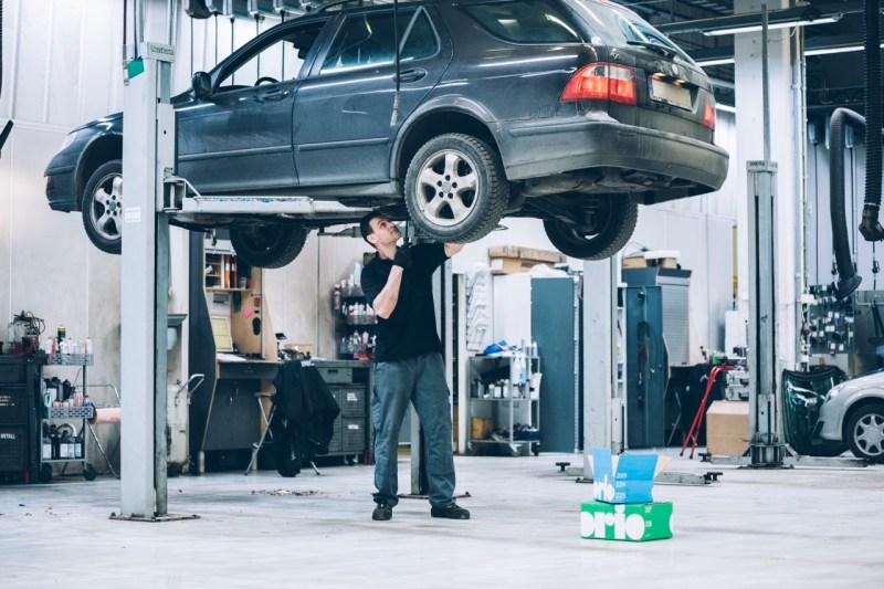 Saab / Orio partnerverkstad. Bild: Orio AB