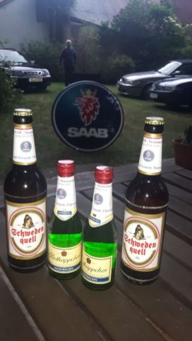 Saab beer and stuff ... But Don't drink and drive!