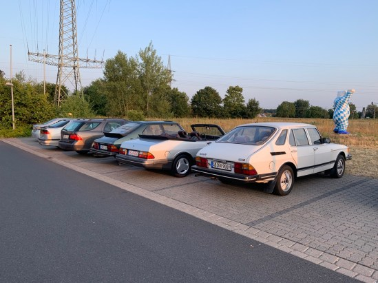Petit meeting de Saab à Alzenau