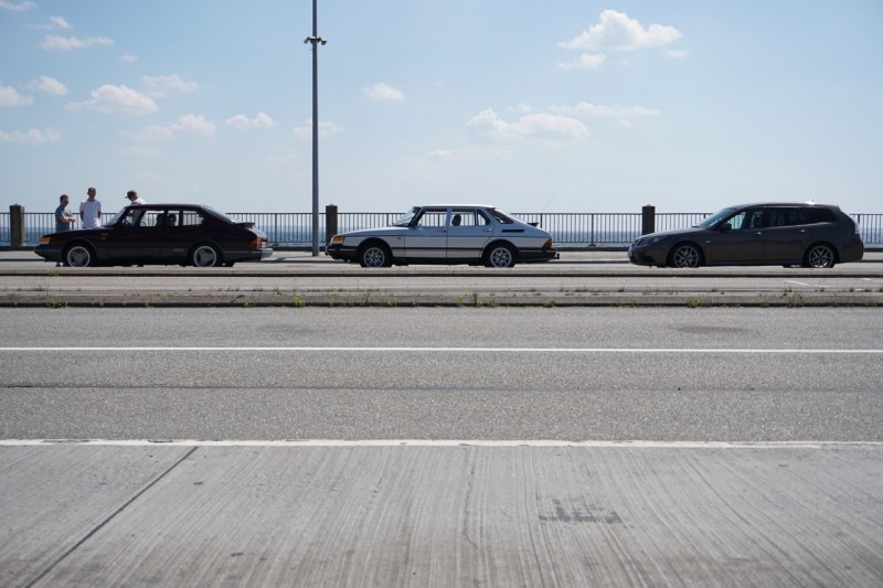 Unsere kleine Saab-Kolonne