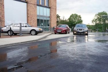 Voor het Saab-museum
