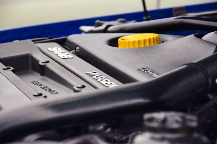 El diseño del motor de Saab tiene su propia estética.