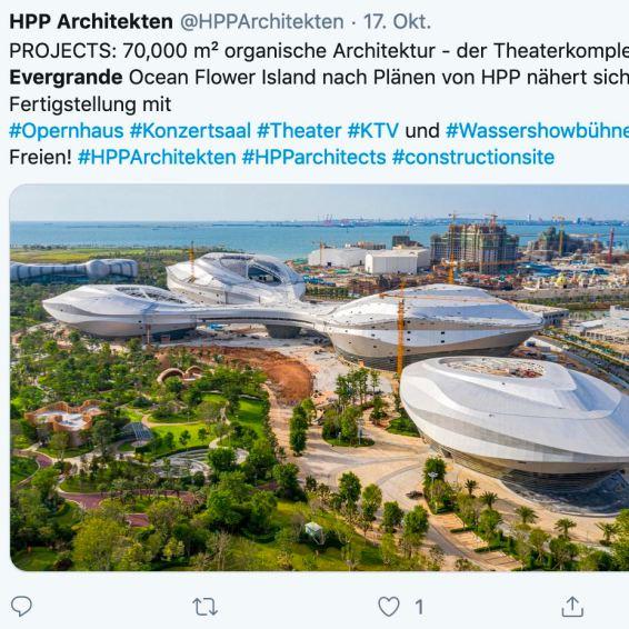 Spectaculair ontwerp is hoe Evergrande bouwt met de architecten van HPP